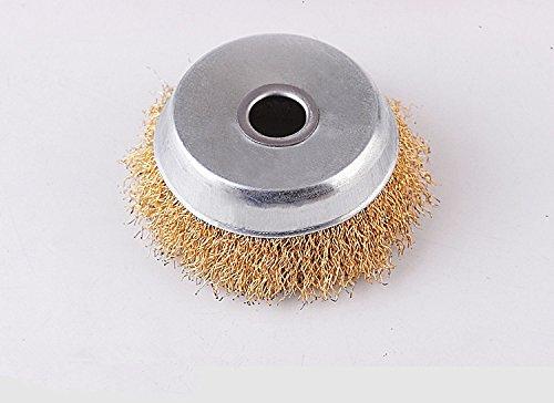 75 / 88mm Bowl Shape Wire Roue de polissage pour 100/125 Angle Grinder Bowl Brosse métallique Acier Metal Polishing Dérive trou 10/16 / 22mm