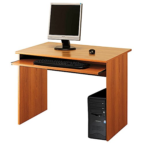 Scrivania porta PC ufficio portatastiera 81x52xh76cm color noce SPRINT (Ufficio Noce Scrivania)