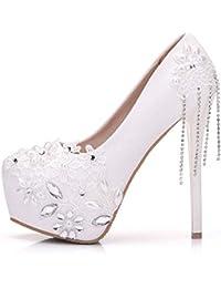 es Blancas De Zapatos 50 100 Tacon Amazon Eur Sandalias SqdwfEE