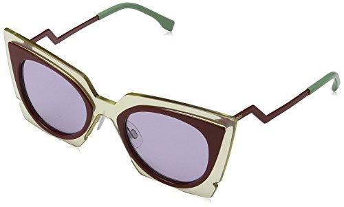 Fendi Damen FF 0117/S Y4 IC5 49 Sonnenbrille, Beige (Beired Brgnd/Lilac),