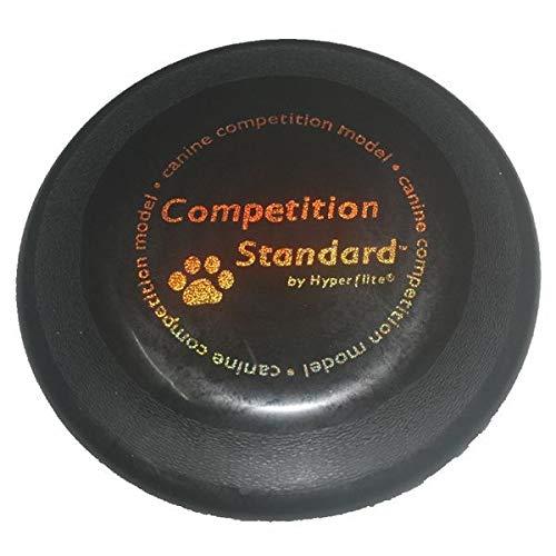 SKNSM Creativo Perro Disco Juguete Disco Volador Perro Frisbee Puppy Molar Juguete para el Entrenamiento (Negro)