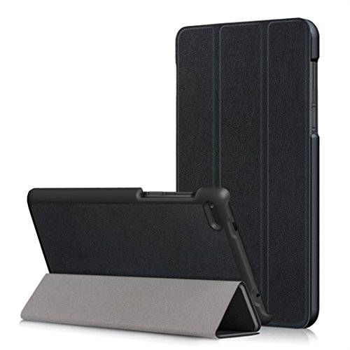 MuSheng(TM) Leather Slim Folding Stand Painted Case Cover For Lenovo Tab 7 Essential TB-7304F/I/X (Black)
