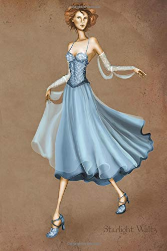 Starlight Waltz: Dancer Vintage Style Fashion Illustration Soft Cover Journal, Diary, Notebook with Lined Pages