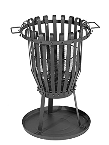Multifunctional Steel Fire Basket Campfire BBQ Grill Basket Grill with Brazier Barbecue Grill Ash Catcher and Stainless Steel Approx.