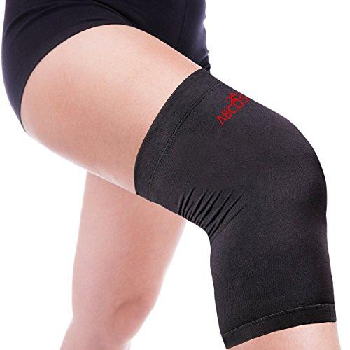 Kupfer-Kniebandage–Kompressionsbandage, bietet Unterstützung, hoher Kupfergehalt–Für Männer & Frauen–Schützt das Kniegelenk, für eine schnellere Schmerzlinderung, zur verletzungsprävention, zur Rehabilitation –Überall tragbar. 1 Stück, L