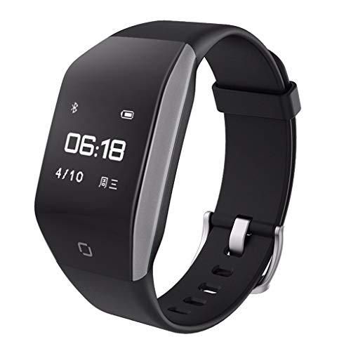 LRWEY Fitness Armband Mit Pulsmesser, Kinder Frauen Männer Herzfrequenz Aktivität Schritt Gebogene Oberfläche Design Smart Watch Armband, FüR iOS Android