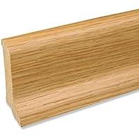 Echtholz Profil-Sockelleiste Fu/ßbodenleiste aus Kiefer-Massivholz in Ahorn furniert 2500 x 20 x 40 mm
