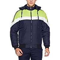 Qube by Fort Collins Men's Bomber Jacket (14645_L_Navy)