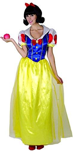 -Prinzessin Damenkostüm Schneewittchen gelb-blau-rot M (Bezaubernde Prinzessin-kostüm)