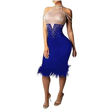 Smonke Damen Party Club Nachtclub Enge Passform Sexy Schulterfrei Farblich abgestimmtes Kleid Mode Party Dres Elegantes Abendkleid Cocktail Retro Minikleid