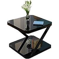 Mesa HUO Balcón Pequeña Centro Simple Moderna Mini Cuadrada Sala de Estar Sofá Auxiliar Multifuncional (