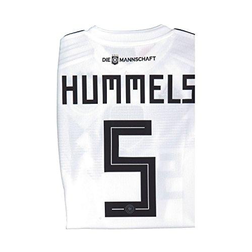 Adidas DFB Home Camiseta Alemania WM 2018Rusia Color Blanco, tamaño: L, número y Nombre: 5–Hummels