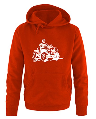 Comedy Shirts - Quad ATV - Herren Hoodie - Rot/Weiss Gr. S