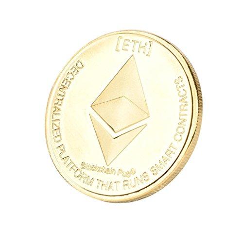 Dekoartikel Münzen,Jaminy 4X Vernickelt Gedenk Litecoin ETH Sammler Gold Eisen Miner MÜNze Geschenk - 8
