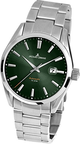 Jacques Lemans Herren Multi Zifferblatt Automatik Uhr mit massives Edelstahl Armband 1-1846F
