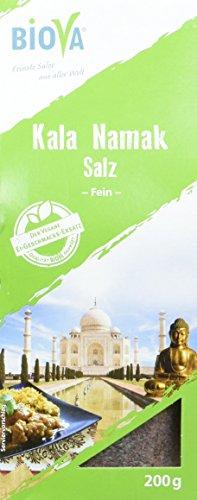 Kala-Namak-Salz (Schwarzsalz) Feinstreu 200g Packung