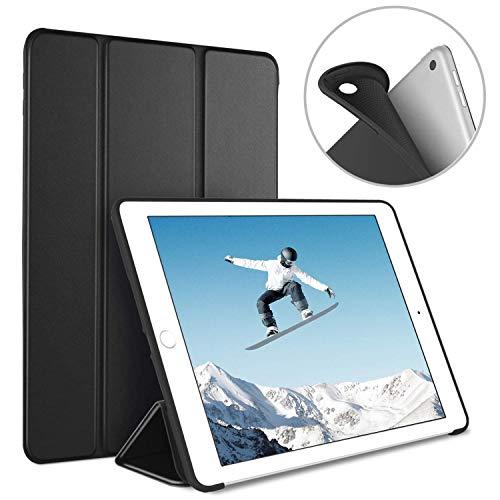 Luvfun Hülle für iPad 2018, Schutzhülle für iPad 2018/2017(6. Generation/5.Generation) mit Auto Schlafen/Wachen Cover Case für iPad 2018 9.7 A1822 / A1823 / A1893 / A1954 (Schwarz) (Generation Ipad 5.)