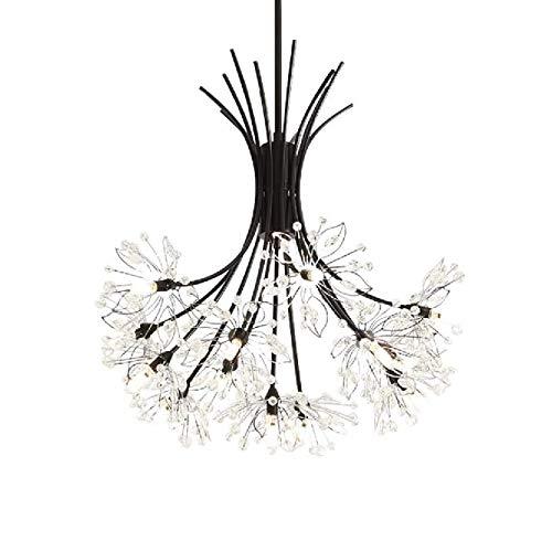 Qiaobaba Kronleuchter Licht Kristall Lampe Einfache Lampe Kreative Kunst Wohnzimmer Restaurant Led Bouquet Löwenzahn Kronleuchter,13heads -