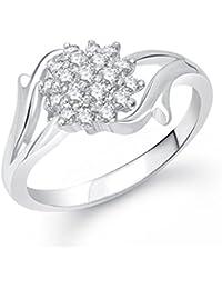 VK Jewels Flowery Dreams Rhodium Plated Ring- FR1274R [VKFR1274R]