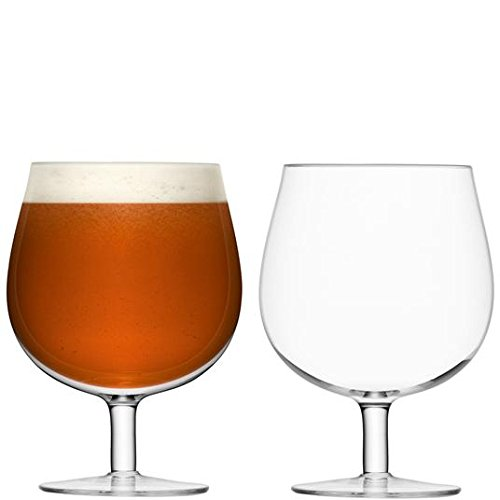 LSA International Bar Craft bière en verre 550 ml Transparent Lot de 2