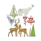 Sizzix Christmas Elements by Lisa Jones gaufrage 3D Impresslits, Multicolore, XL,...