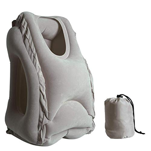 FAINLIST Multifunction Inflatable Air Travel Pillow Airplane Train and Car Office Desk Nap Pillow