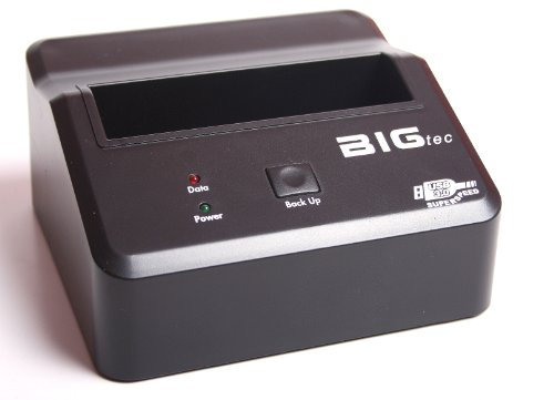 "BIGtec USB 3.0 Super Speed up to 5Gbps Docking Station QuickPort für 2,5"" / 3,5"" SATA S-ATA HDD Festplatten mit Backup Funktion letsBFI"