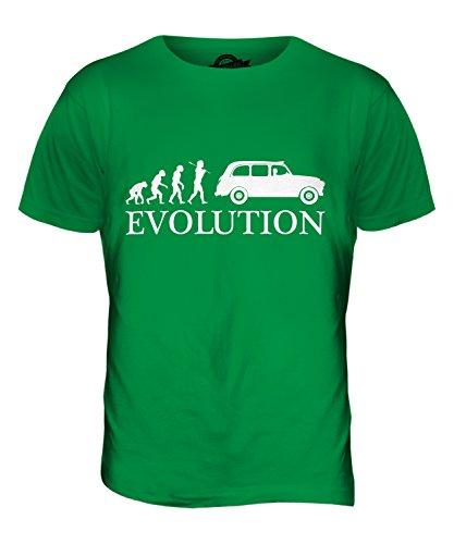 CandyMix Taxi Londoner Black Cab Evolution Des Menschen Herren T Shirt Grün