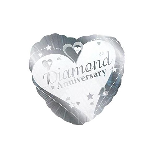 45,7cm Diamant Jahrestag Folie Ballon -