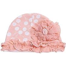 805db195a98 YiZYiF Bébé Fille Garçon 3 Pièces Bonnet de Nouveau-né Fleur Chapeau Bonnet  de Baptême