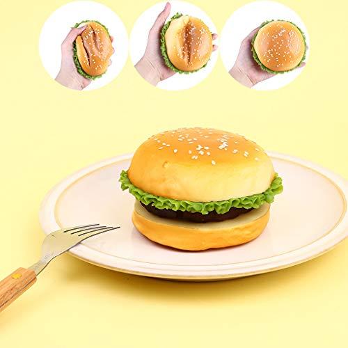 Webla Drücken Sie das Spielzeug, Hamburger Form Slow Rebound Dekompression Extrusion Spielzeug, Pu -