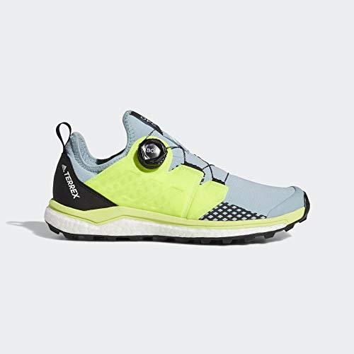 adidas Damen Terrex Agravic Boa W Cross-Trainer, Grau (Ash Grey S18/Solar Yellow/Core Black Ash Grey S18/Solar Yellow/Core Black), 39 1/3 EU