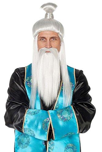 Herren Perücke und Bart Chinese Japaner zum Kostüm Karneval (Chinesen Herren Kostüm)