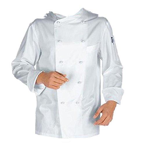 Giacca casacca da cuoco chef cotone bianca con bottoncini divisa classica TG L/50