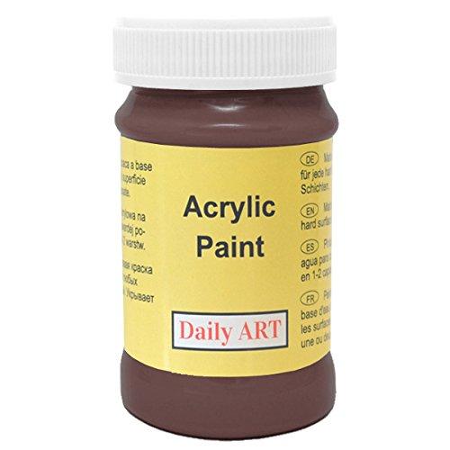 Daily ART Premium Craft Acrylfarbe Dunkelbraun, 100ml