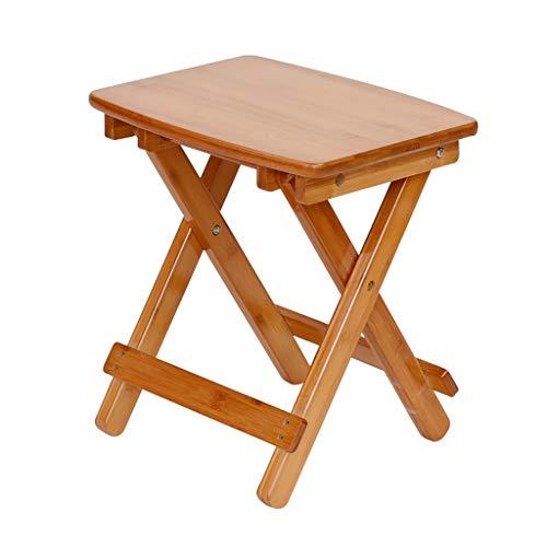 Tabouret - Chaise Pliante, Petit Banc pour la Maison, Chaise à Manger en Bambou/Tabouret Portable/Banc en Bois Simple Moderne (Couleur : B, Taille : 33 * 25 * 35cm)