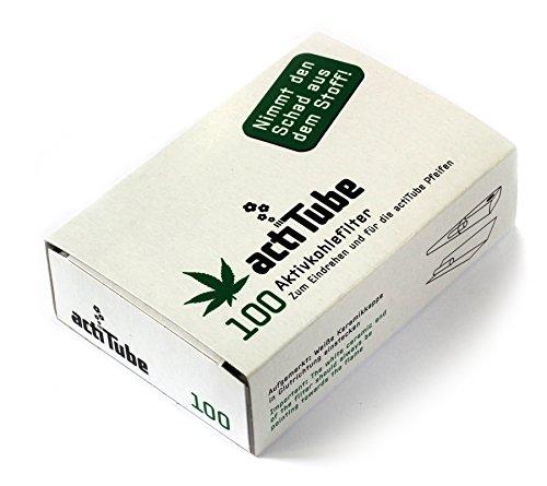 500 ActiTube Aktivkohlefilter 5 x 100er Box Display 9mm Eindrehfilter Pfeife in Acti Tube Tune Filter Tips Filtertips Aktivkohle -