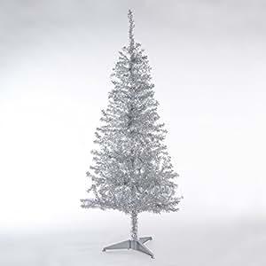 k nstlicher weihnachtsbaum silber glitzernd h he 1 50 m 300 zweige premium. Black Bedroom Furniture Sets. Home Design Ideas