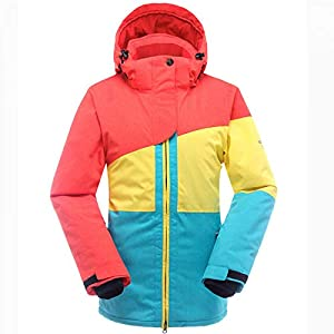 Zjsjacket Skianzug Skijacke Frauen Snowboardjacke Wasserdichte Schneejacke Ski Sportswear Atmungsaktiv Super Warm Winter Skianzug Mäntel