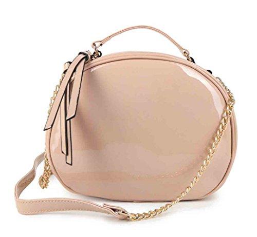Damen Mode lang Kleine Berühmtheit Umhängetaschen Tasche Shinny Chic Tote Handtasche CW53166 CWRJ160136 Handgepäck Apricot