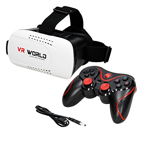 ECD Germany Bluetooth Wireless Controller Android und 3D Virtual Reality VR-Brille