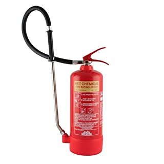 6 Litre Wet Chemical Fire Extinguisher - Class F for use on Deep Fat Fryer Kitchen Fires by A2Z Fire