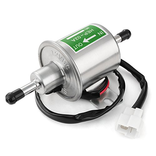 Preisvergleich Produktbild XCSOURCE HEP-02A Universal 12V 120L / H Schwer Pflicht Electric Gas Diesel KraftstoffpumpeMetall In-Tank 8mm Benzinpumpen Vergaser für Autos Fahrzeuge Boote MA637