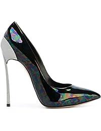Best 4U® Zapatos de mujer de cuero genuino Tacones altos de metal Tacón de aguja de caucho con punta estrecha...