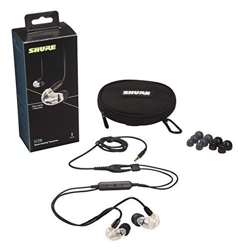 Shure SE215 In Ear Kopfhörer mit Sound Isolating Technologie, 3, 5-mm-Kabel, Fernbedienung und Mikrofon - Premium Ohrhörer mit warmem & detailreichem Klang - Klar - 2
