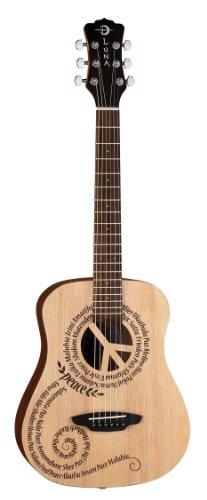 Luna Guitars Safari Peace - Guitarra acústica (con funda)