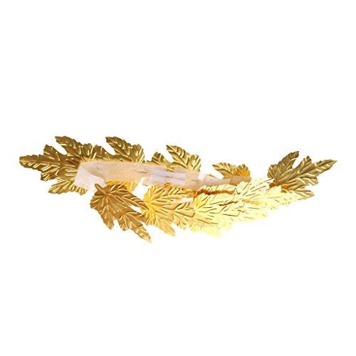 Hellery Römische Griechische Göttin Blattgold Lorbeerkranz Toga Phantasie Kostüm - Blattgold Stirnband Kostüm