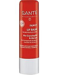 SANTE Naturkosmetik Lipbalm Bio-Granatapfel & Marula, Natürlicher Lippenpflegestift, Macht die Lippen weich & geschmeidig, Vegan, 4,5g