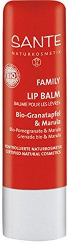 SANTE Naturkosmetik Lipbalm Bio-Granatapfel & Marula, Natürlicher Lippenpflegestift, Macht die Lippen weich & geschmeidig, Vegan, 4,5g - Lippenbalsam Pflege-ein