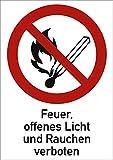 Scudo di fuoco, aperto luce e vietato fumare 18,5x 13,1cm in alluminio